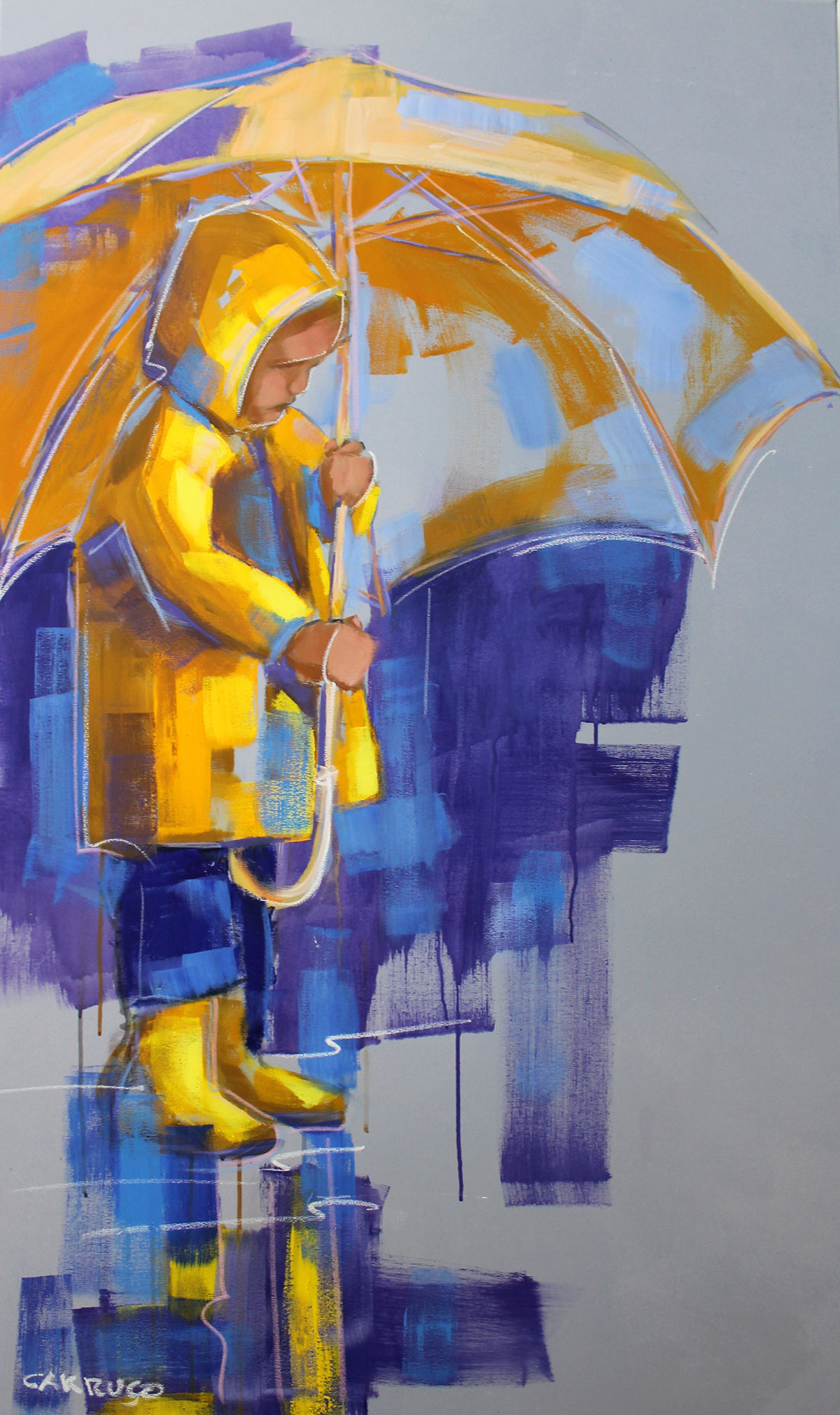 Gallery Painting Plastic Artist Rui Carruco 2019 In-the-company-of-rain
