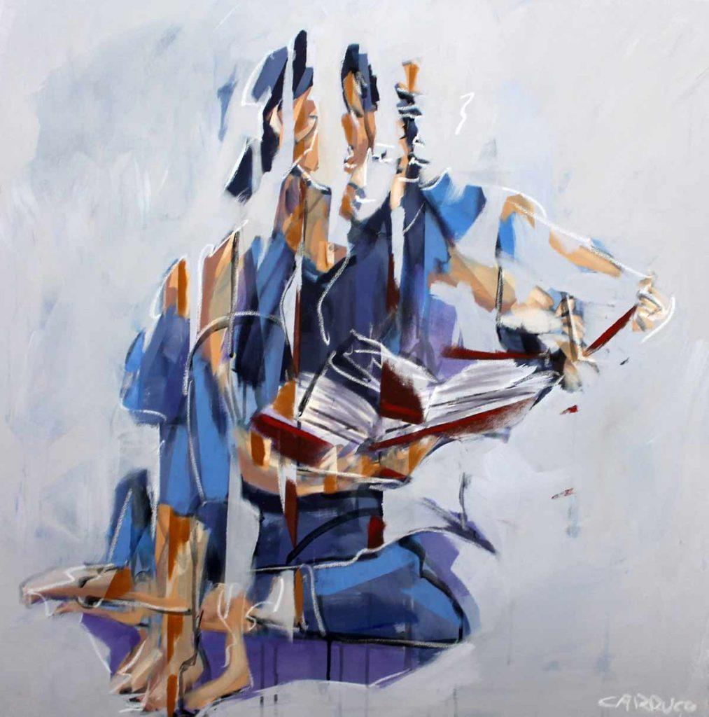Galeria Pintura Artista Plastico Rui Carruco 2020 A-leitora-the-reader