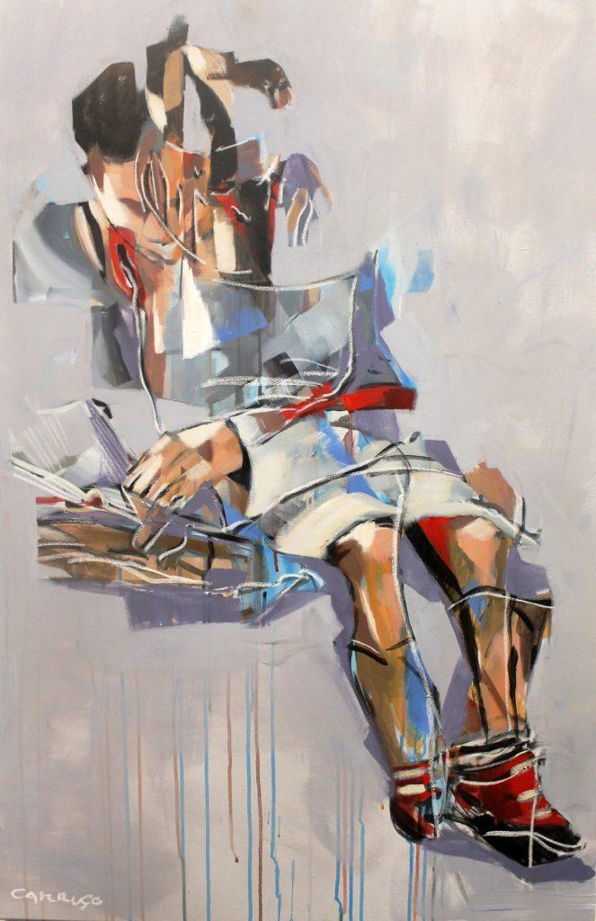 Galeria Pintura Artista Plastico Rui Carruco 2020 Lendo-um-livro-Reading-a-book