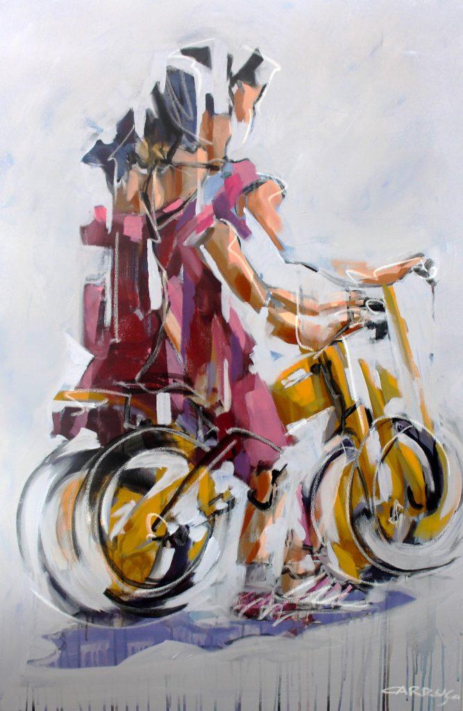 Galeria Pintura Artista Plastico Rui Carruco 2020 Menina-da-Bicicleta-Bicycle-Girl
