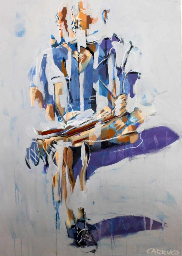 Galeria Pintura Artista Plastico Rui Carruco 2020 O-leitor-the-reader