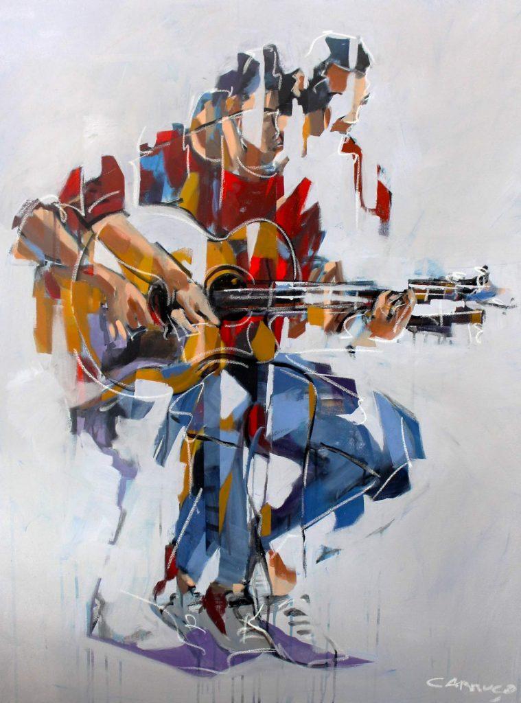 Galeria Pintura Artista Plastico Rui Carruco 2020 Viola-inquieta-Restless-guitar
