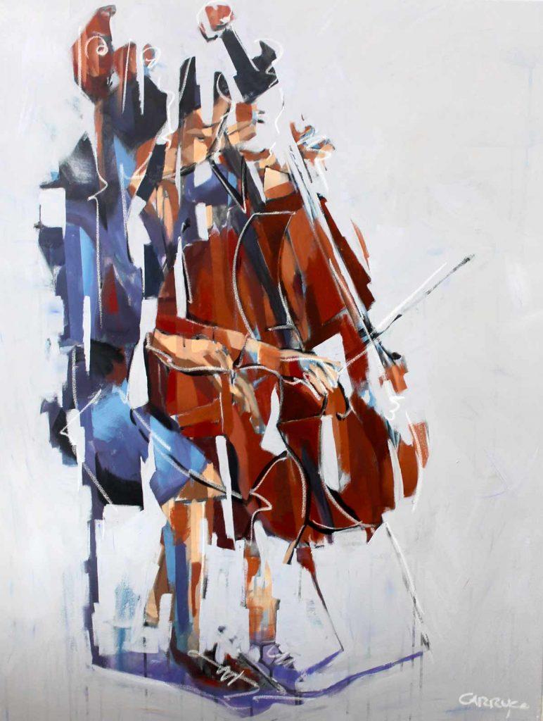 Galeria Pintura Artista Plastico Rui Carruco 2020 Violoncelista-Violoncellist-Cellist